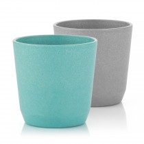 Growing Becher 2er Set blau / grau