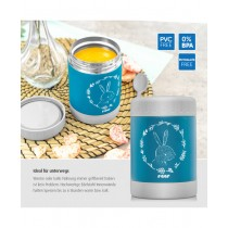 Reer - ColourDesign Edelstahl-Warmhaltebox Petrolblau , 300 ml